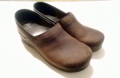 Dansko Mens size 12 EU 45 Brown Leather Professional Oiled Clogs excellent condition on Etsy, $55.11