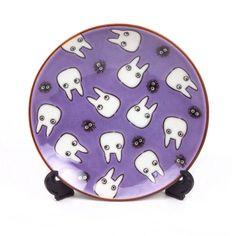 Studio Ghibli Totoro Decorative Plate in purple