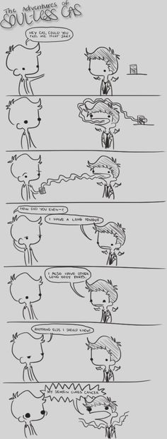 Soul-less Cas cartoons by musicalirony from Deviantart