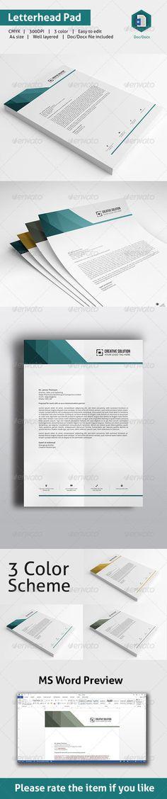 MS Word Letterhead Template Letterhead template, Stationery - microsoft word letterhead template free