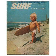 What a cute baby surfer in a cloth diaper!