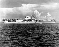 USS Enterprise (CV 6), photographed circa 1940.