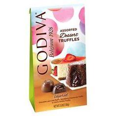 Godiva Assorted Dessert Truffles Pouch 4.25oz
