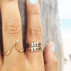 Live / Aloha / Wave #rings