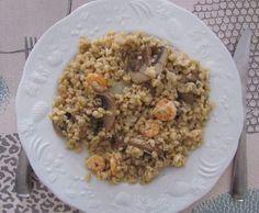 Recette Blésotto champignons crevettes par Anne Legoupil Ma cuisine tout simplement - recette de la catégorie Plat principal - divers