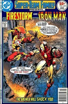 Super-Team Family: The Lost Issues!: Firestorm and Iron Man Comic Book Superheroes, Comic Book Characters, Comic Book Heroes, Comic Character, Comic Books Art, Book Art, Marvel Vs, Marvel Dc Comics, Marvel Heroes