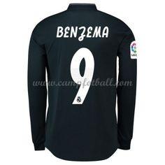 Real Madrid Fotballdrakter 2018-19 Karim Benzema 9 Bortedrakt Langermet Real Madrid, Long Sleeve, Swimwear, Sleeves, Mens Tops, T Shirt, Fashion, Bathing Suits, Supreme T Shirt