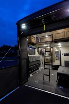Unique, distinctive floor plans, interiors and sleeping spaces put the Outlaw Class A Toy Hauler by Thor Motor Coach in a class of it's own. Small Rv, Small Campers, Thor Rv, Bug Out Trailer, Toy Hauler Camper, Motorhome Conversions, Cargo Trailer Conversion, Class A Rv, Class A Motorhomes