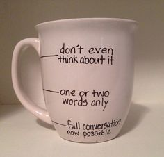 Handwritten Coffee Mug fill lIne mug shhh by simplymadegreetings, $11.00