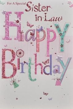 happy birthday sister in law | sister in law birthday card code sis in law 1 in stock £ 1 95 free ...