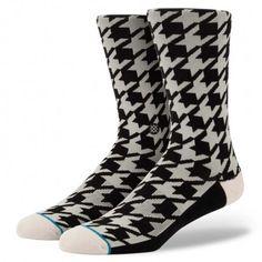 Stance   Hound Dog White, Black socks   Buy at the Official website Main Website.