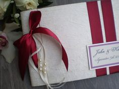 Marsala and Ivory Guest Book Personalised Wedding by CraftStories