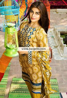 WL9148 Lawn Suits Summer Season Khaadi Lawn Eid Collection 2015 - UK USA Canada Australia Saudi Arabia Bahrain Kuwait Norway Sweden New Zealand Austria Switzerland Germany Denmark France Ireland Mauritius and Netherlands