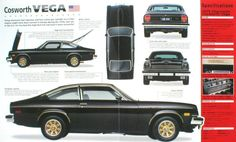 The 1975-76 Cosworth Chevy Vega was the first US production car to have fuel injection, twin overhead cam and disc brakes. It was Chevy's most expensive Vega at $5700, almost the cost of a Corvette. Rare now because only a few thousand were made in 75-76. The Vega was the Corvair replacement and quite popular until defects killed it by 1977.