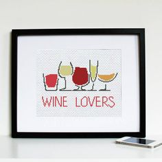 Wine Lovers Cross Stitch Modern Pattern PDF от SmartCrossStitch