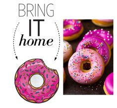 """""""Bring It Home: Donut Microfiber Beach Blanket"""" by polyvore-editorial ❤ liked on Polyvore featuring interior, interiors, interior design, home, home decor, interior decorating, Big Mouth and bringithome"""