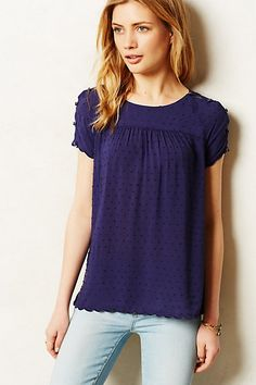 clipdot buttoned tee / anthropologie