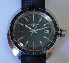 Vintage Ulysse Nardin Automatic 25 Jewels Divers Watch Original Strap and Buckle