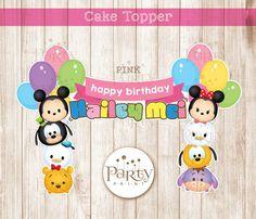 TSUM Tsum inspirado de la torta nombre por Partyprintkk en Etsy