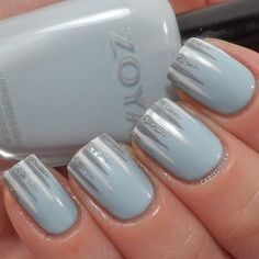 Nail Art for beginners - I like this idea, it would make great winter nail art :)