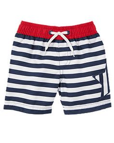 Striped Star Swim Trunks