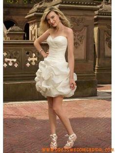 Puffy short wedding dress