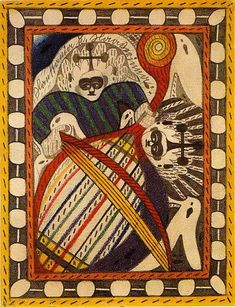 "Adolf Wölfli. ""Hautania and Haaverianna"", 1916. ""Bread Art"" - Single Sheet Drawings, 1912-1930"