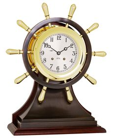 Fast Deliver Vintage Wooden Desk Clock Antique Brass Compass Nautical Maritime Pocket Gift Strong Resistance To Heat And Hard Wearing Maritime Compasses