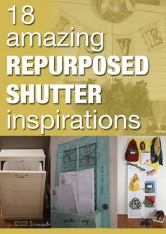 Shutter Ideas! :: Becky--beyond The Picket Fence's Clipboard On