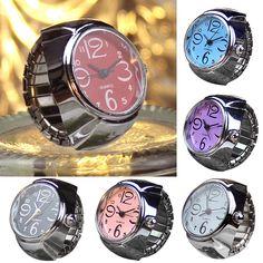 Dial Quartz Analog Watch Creative Steel Cool Elastic Quartz Finger Ring Watches  | eBay