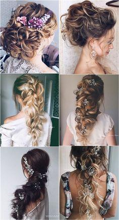 Ulyana Aster Bridal Wedding Hairstyles for Long Hair ❤ See more: http://www.deerpearlflowers.com/romantic-bridal-wedding-hairstyles/2/