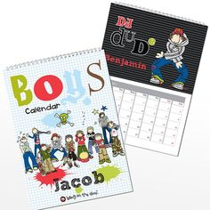 Personalised Bang on the Door Boys Calendar  from Personalised Gifts Shop - ONLY £12.99