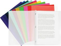 Staples® Poly 3 Tang Report Cover