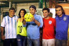 'LEKAR HUM DEEWANA DIL' PROMOTIONAL FOOTBALL MATCH Arif Ali, Deeksha Seth, Ranbir Kapoor, Armaan Jain and Imtiaz Ali