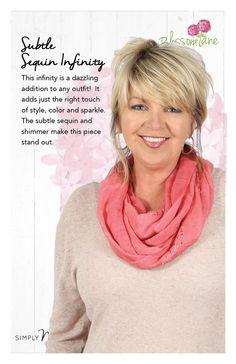 Sequin Infinity,  Blossom Lane by Simply Noelle.  http://www.NoelleEnterprises.com  #SimplyNoelle