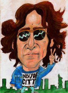 Lennon caricature 2011 revamp | Flickr - Photo Sharing!