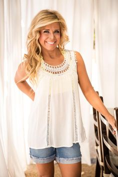 Pink Coconut Boutique | Sweet Love Of Mine Top - Ivory