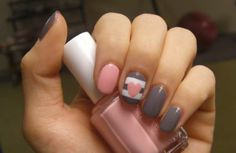 how to: the sweetheart manicure / this one is an all-time #nailart favorite!