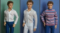 "A fitted shirt and trousers on a ken with a model (""Harley's"") body - For Dolls With Love"