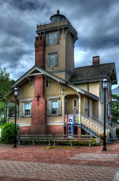 Historic Hereford Inlet Lighthouse, North Wildwood, New Jersey