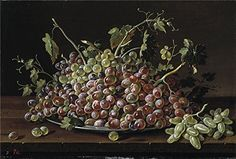 The Perfect Effect Canvas Of Oil Painting Melendez Luis Egidio Frutero Con Uvas Blancas Y Tintas 1771  size 8 X 12 Inch  20 X 30 Cm this Vivid Art Decorative Prints On Canvas Is Fit For Laundry Room Gallery Art And Home Decoration And Gifts
