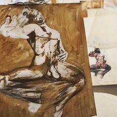 L'Après-midi d'un faune 2017 (study) by #erosrenzetti  #gouache on paper 494x367cm #drawing #men #ibridi #robot #cybermonday #cyber #android #love #artificialintelligence #art #pencil #art #artist #artoftheday #artsy #beautiful #creative #draw #drawing #gallery #graphic #graphics #illustration #instaart  #erosrenzettiofficial #tempera #faun #comics