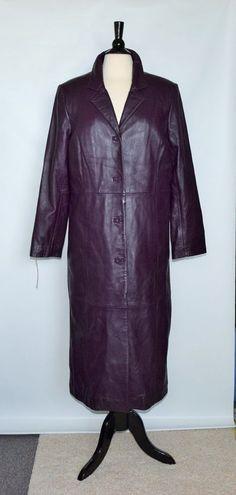 NWOT CENTIGRADE Leather Black / Dark Lilac Women's High Quality Warm Coat Size M #Centigrade #BasicCoat