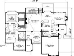 First Floor Plan of Ranch   Tudor   House Plan 95845