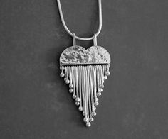 Sterling silver heart necklace. Silver heart by Kailajewellery