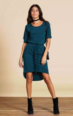 The Chiquita dress is so easy to wear! With a drop back and pull in tie waist, it's very flattering - looks great over tights if it's chilly or glam it up with some heels for an evening dinner.