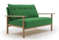 I really like this Kate-Spade-green sofa! It's geek meets Muji meets Kate Spade!