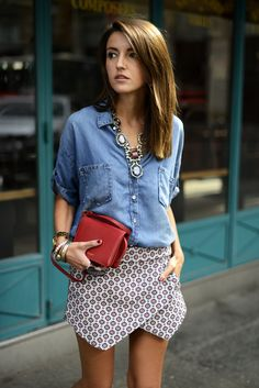 denim and print