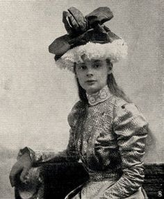 Duchess Cecilie of Mecklenburg-Schwerin, later Kronprinzessin of Prussia. 1890s.
