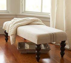 Do you love Pottery Barn home decor? This collection of Pottery Barn knock off projects are simple DIYs that will add the Pottery Barn look to your home! Pottery Barn Hacks, Pottery Barn Look, Pottery Barn Inspired, Furniture Makeover, Diy Furniture, Building Furniture, French Furniture, Padded Bench, Painting Burlap